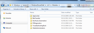 Windows Explorer system32 Listing